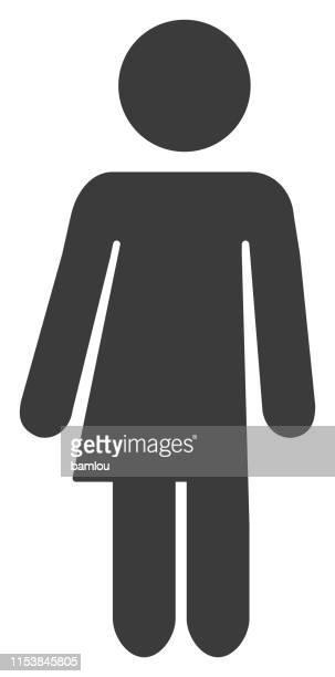 transgender grey icon - androgynous stock illustrations, clip art, cartoons, & icons