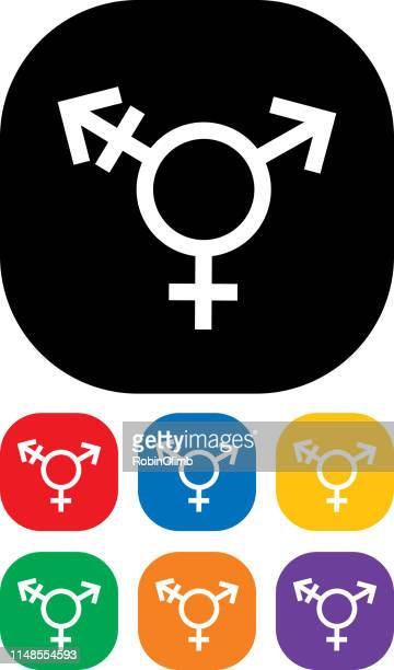 transgender icon set - bisexuality stock illustrations, clip art, cartoons, & icons