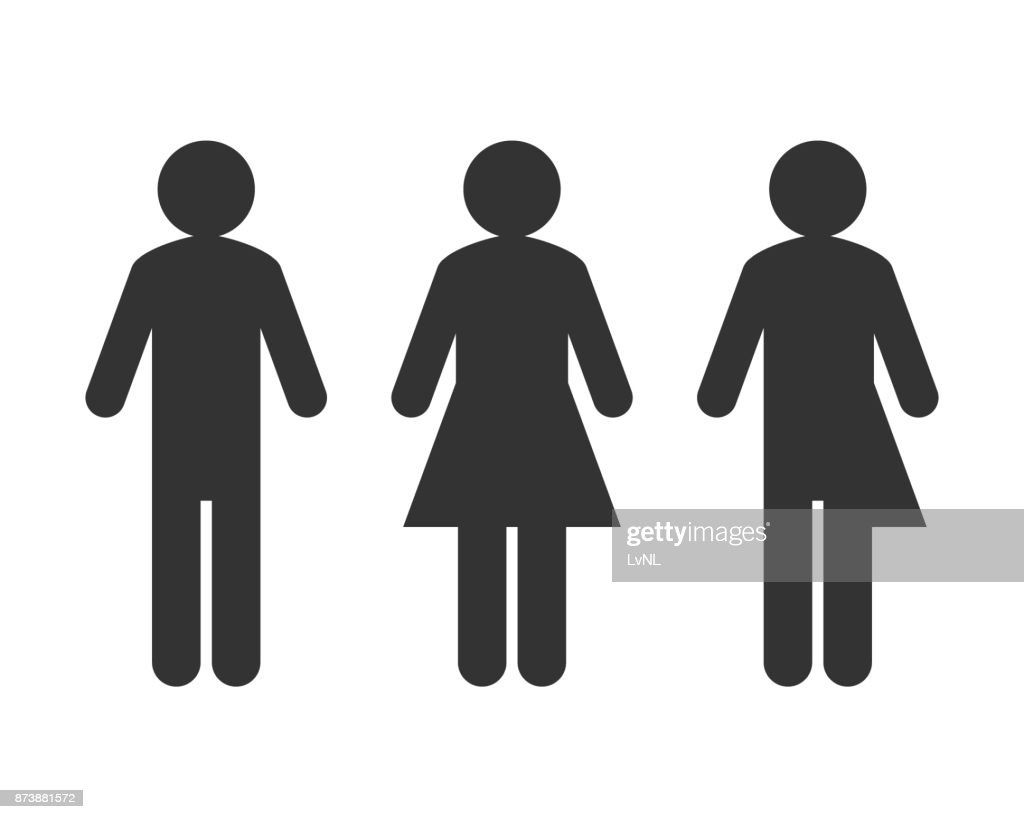Transgender or unisex pictogram concept