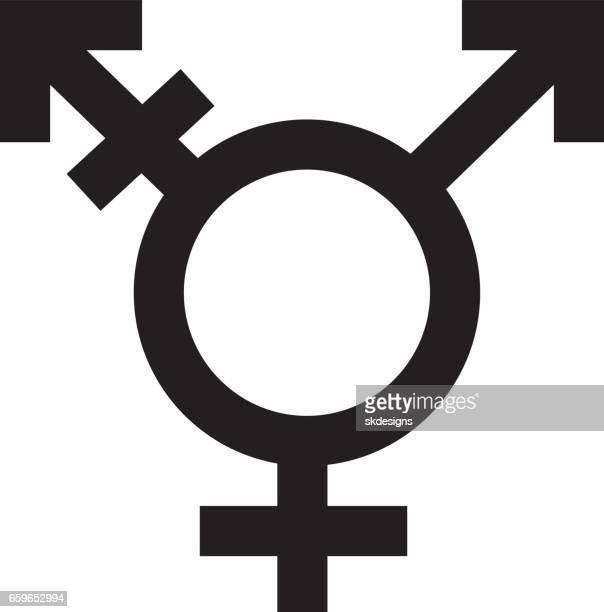 ilustraciones, imágenes clip art, dibujos animados e iconos de stock de transgénero símbolo, icono, blanco y negro - símbolo de género