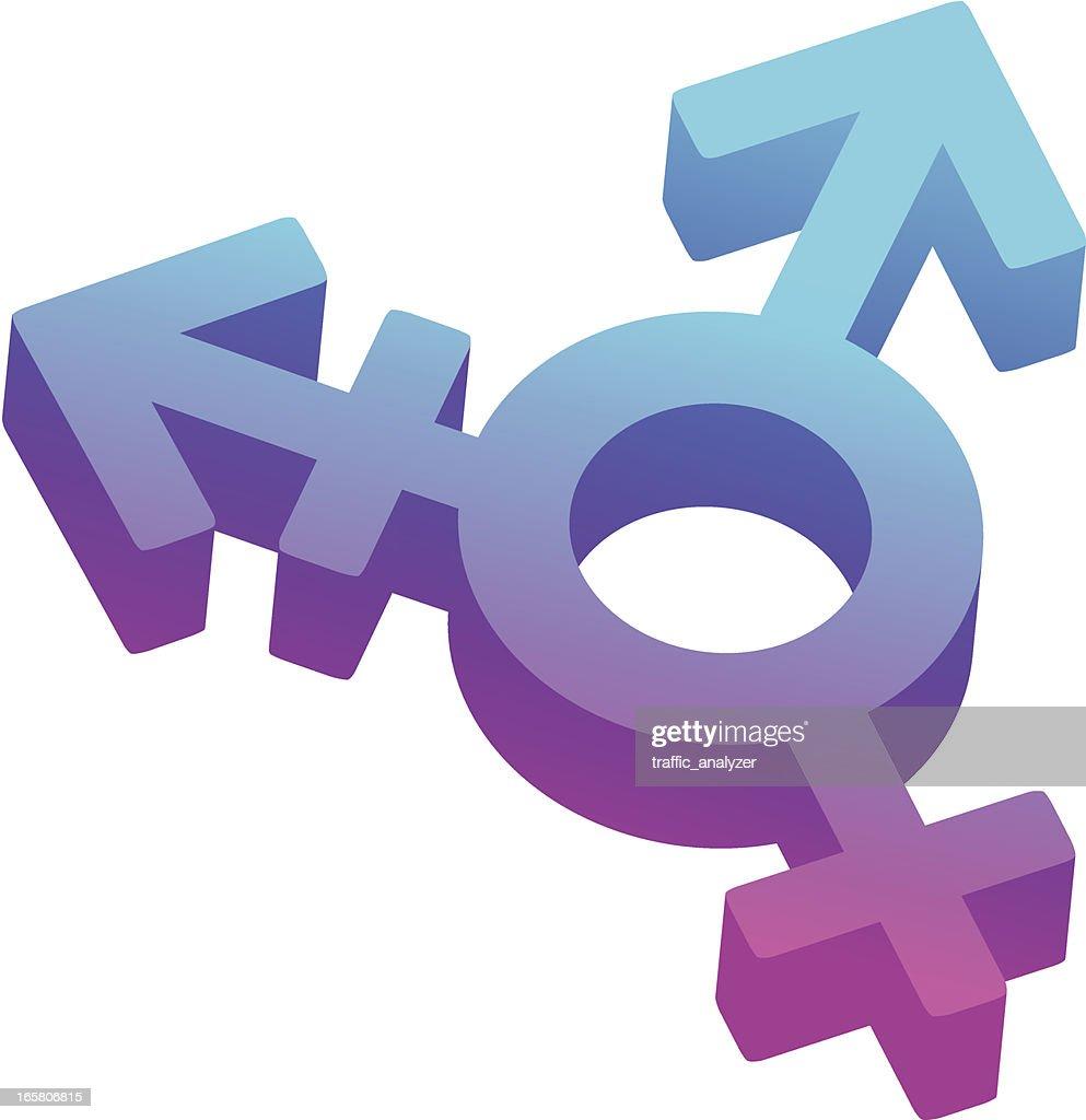 Transgender symbol : Vector Art
