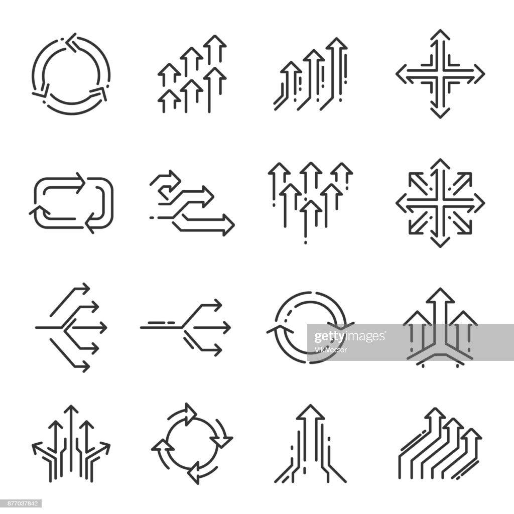 Transition line icon set