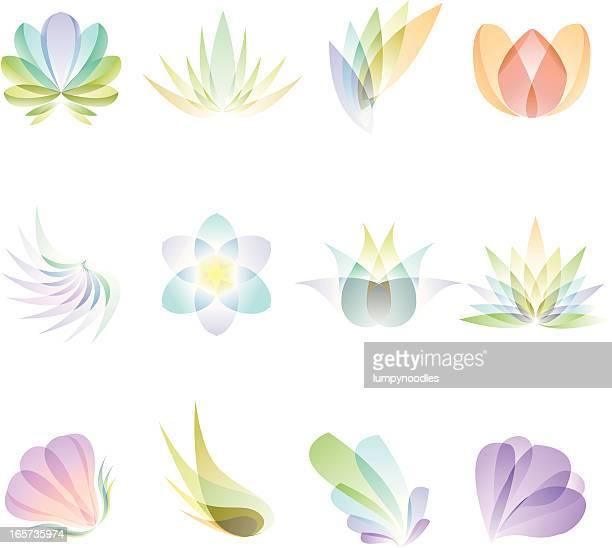 transparente abstrakt blumen - blütenblatt stock-grafiken, -clipart, -cartoons und -symbole