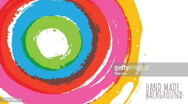 translucent concentric brushstrokes header - concentric stock illustrations
