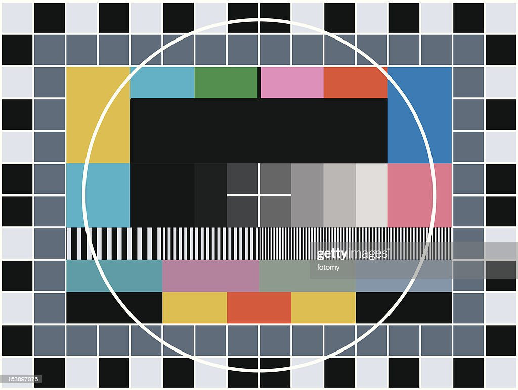 TV transmission test card
