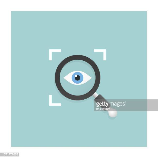 transparency icon - surveillance stock illustrations