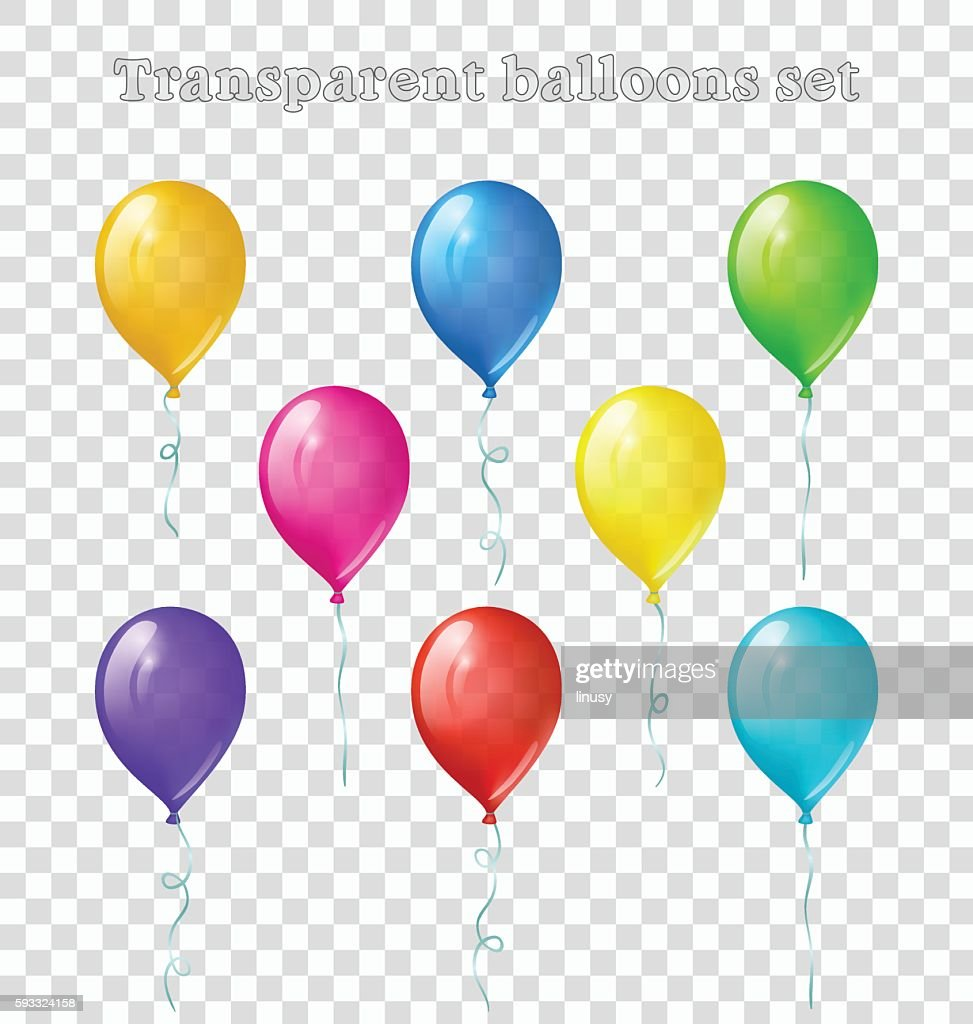 Transparent balloons set