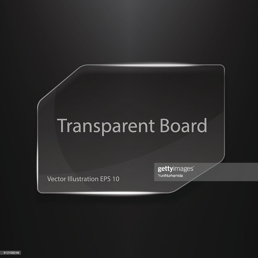 Transparent Board Vector