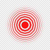 transparent concentric circle elements like pain