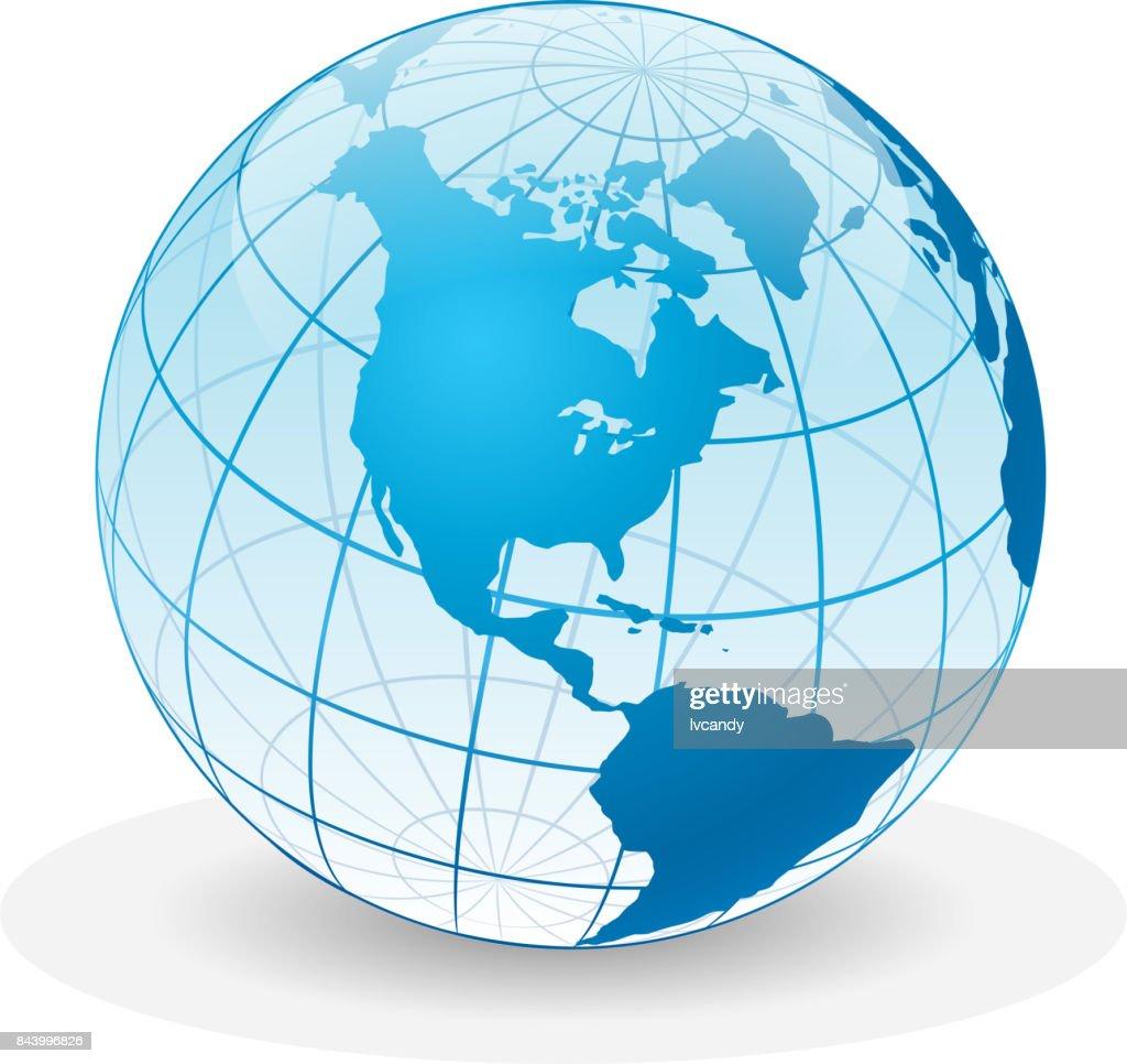Transparent earth : stock illustration