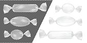 Transparent foil food snack pack for candy and other products