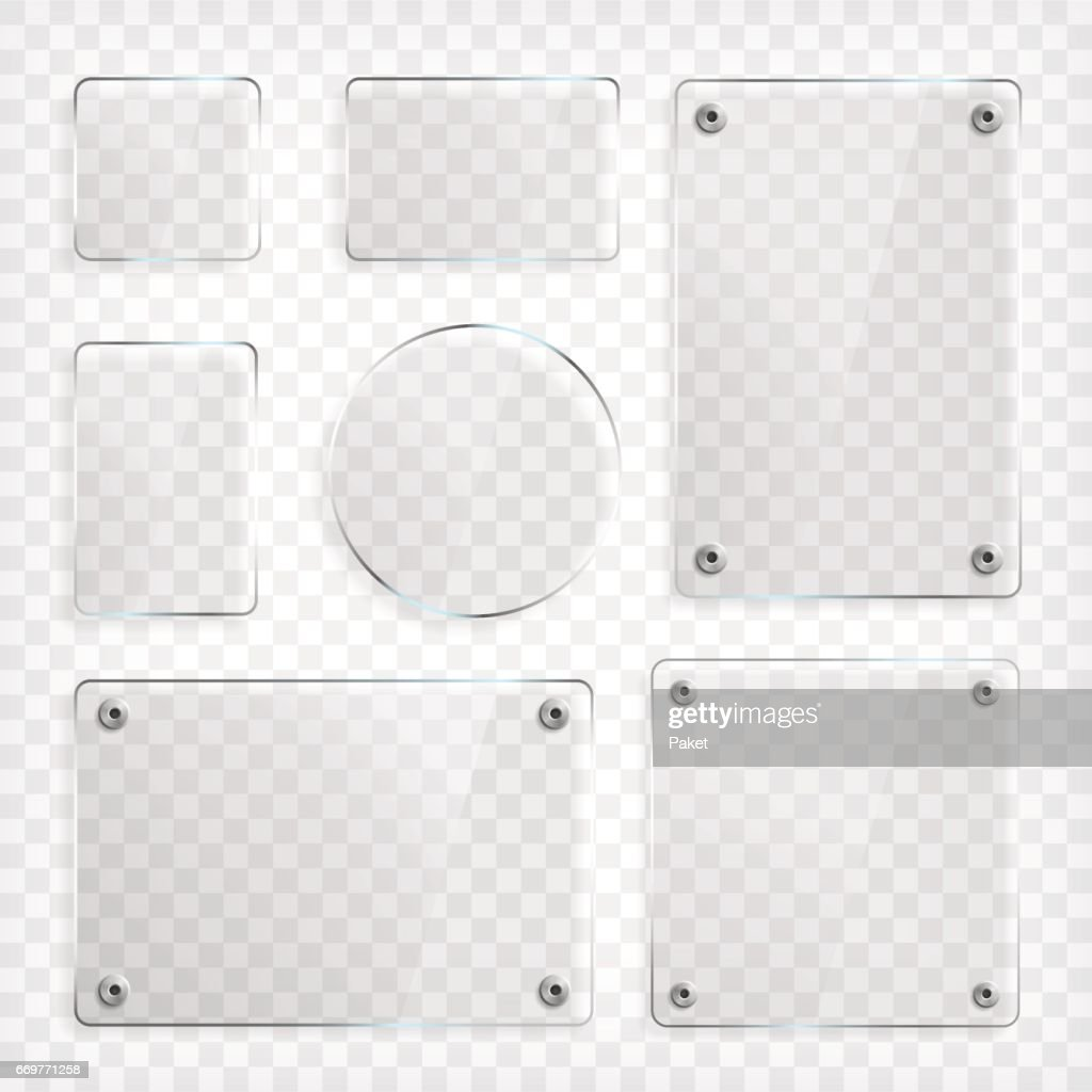 Transparent Glass Plates Set