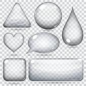 Transparent glass shapes