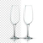 Transparent Glass Vector. Brandy Blank. Empty Clear Glass Cup. For Water, Drink, Wine, Alcohol, Juice, Cocktail. Realistic Shining Glassware Transparency Illustration