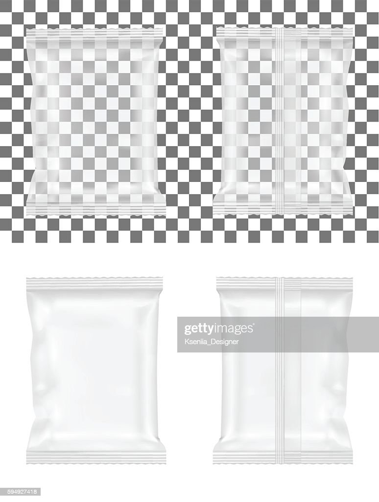 Transparent packaging for snacks, sugar, spices and cosmetics
