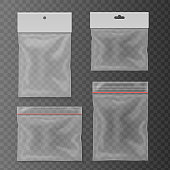 Transparent plastic pocket bags set Blank package collection