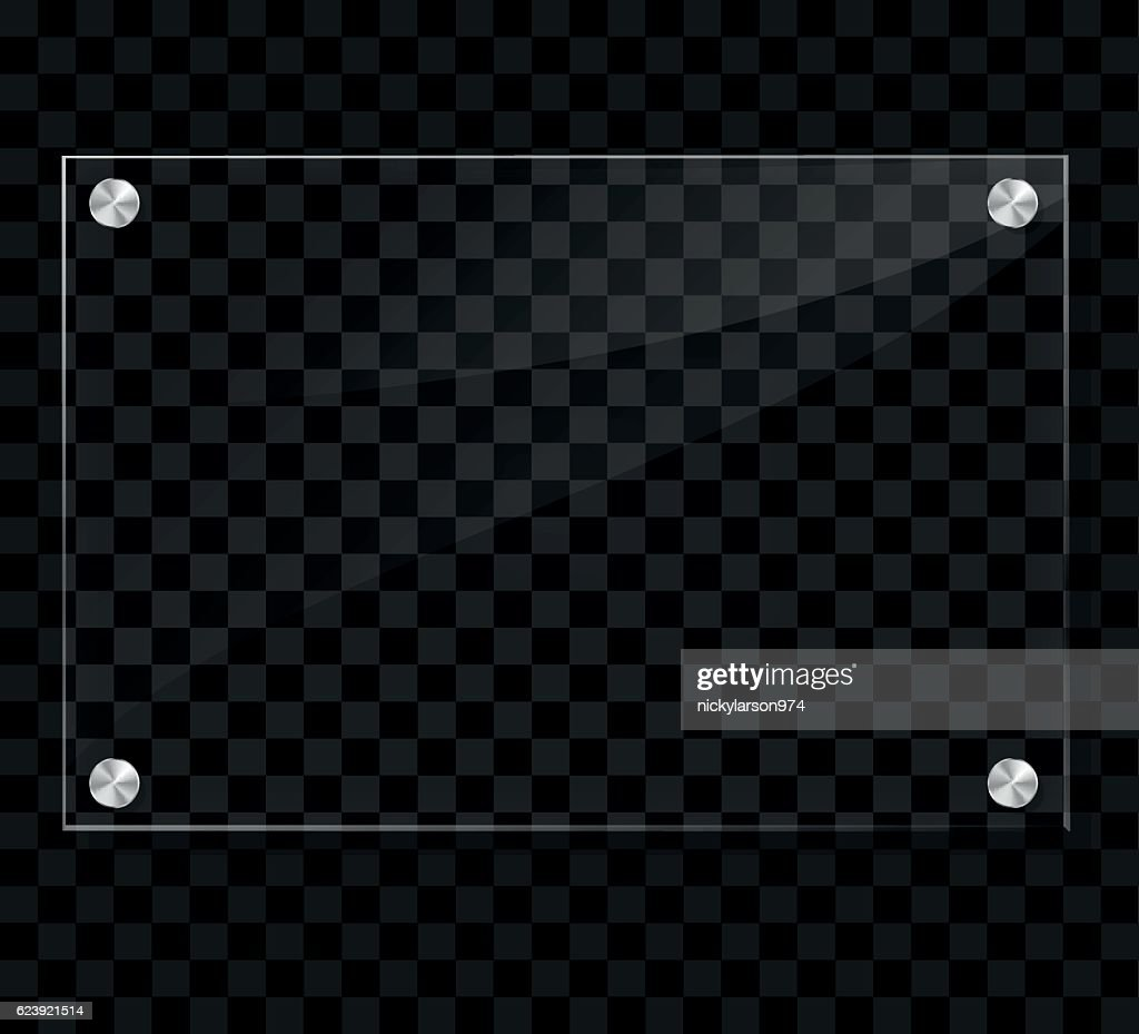 transparent plate on checkered background
