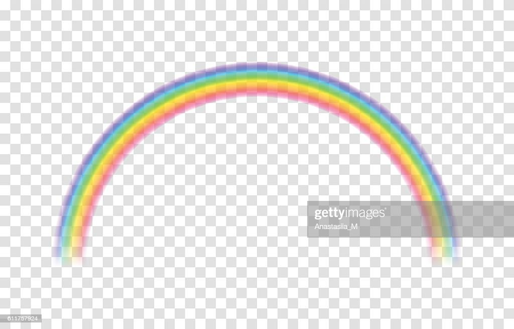 Transparent rainbow. Vector illustration.