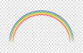 Transparent rainbow. Vector illustration.