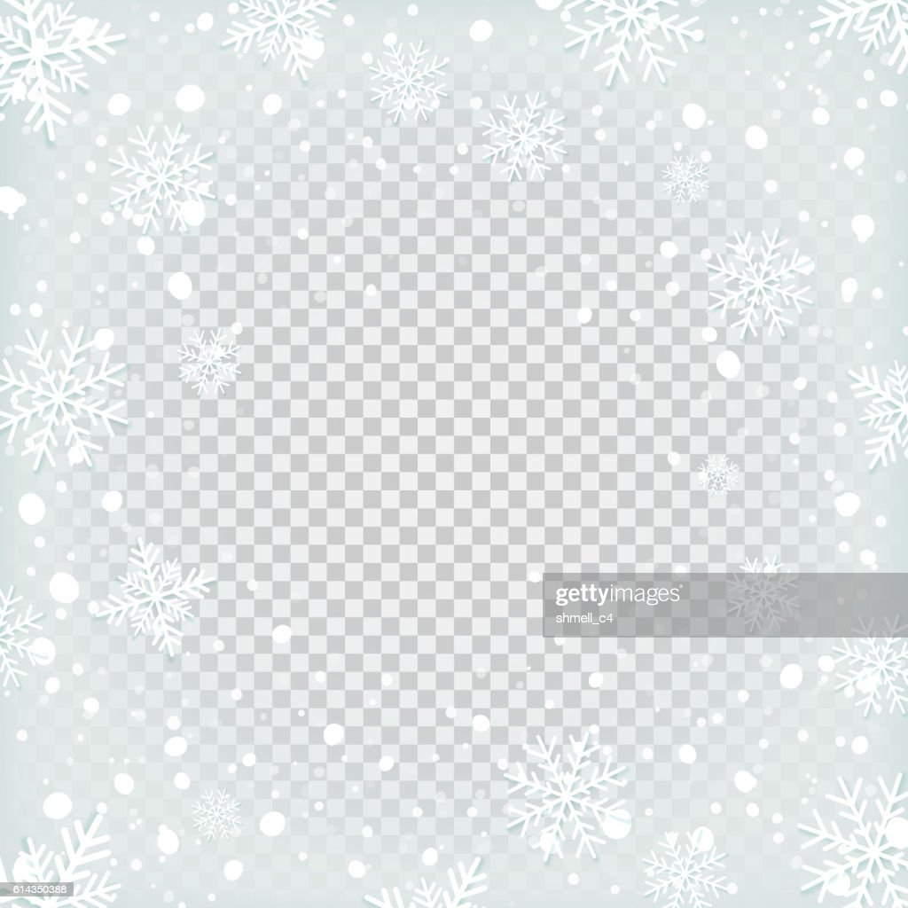 Transparent snow background.