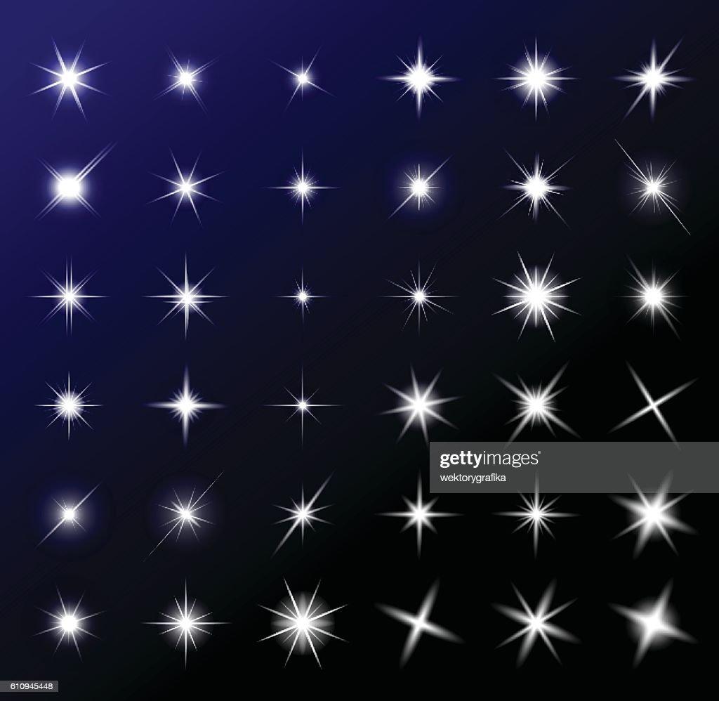 transparent star vector symbol icon design.