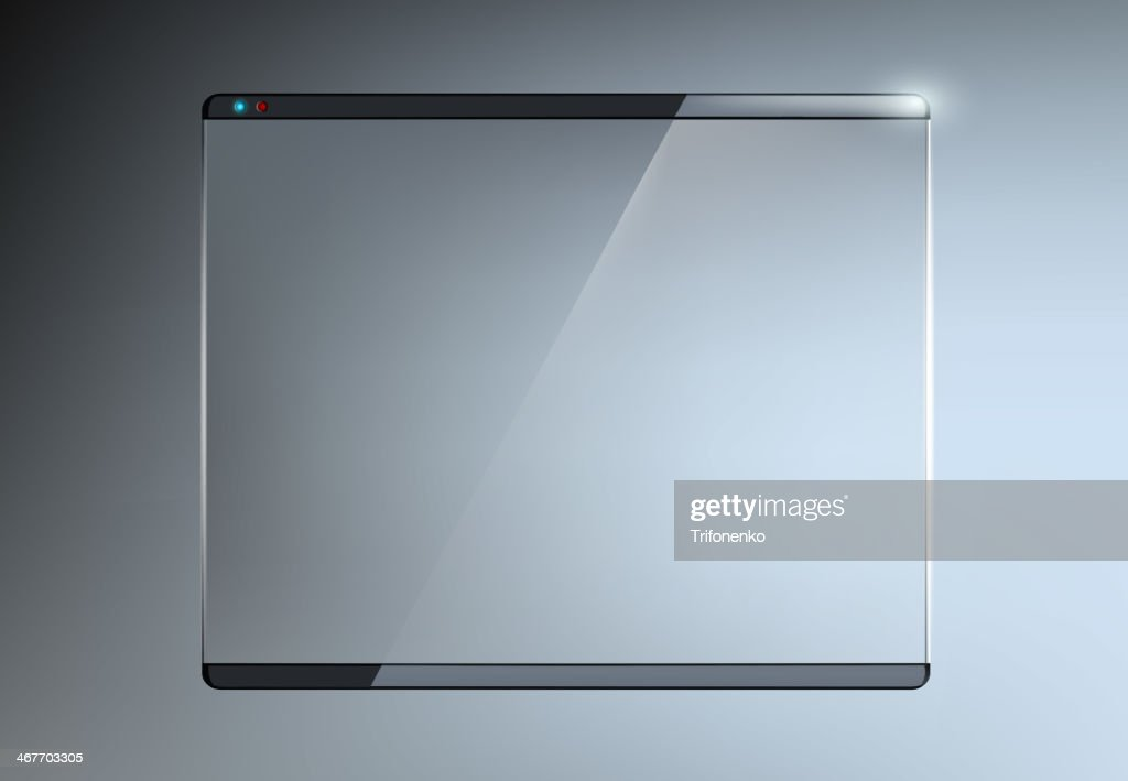 Transparent touch screen with glass