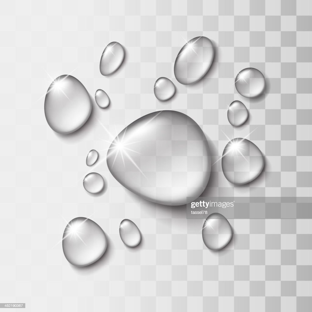 Transparent water drop