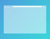 Transparent web browser mockup in modern flat design. Computer blank template frame. Isolated design. Vector EPS 10