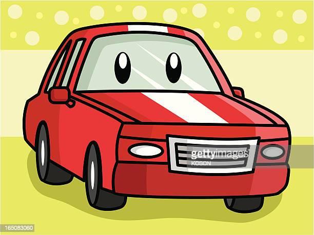 transport cartoon - sedan stock illustrations, clip art, cartoons, & icons
