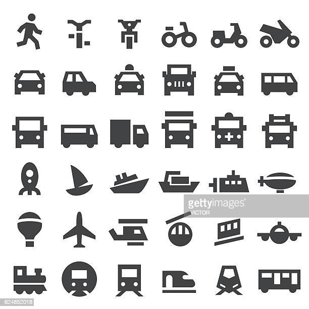 transport icons - big series - fire engine stock illustrations, clip art, cartoons, & icons