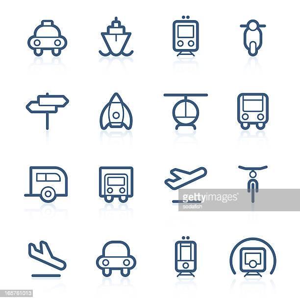 transport icons | contour series - sedan stock illustrations, clip art, cartoons, & icons
