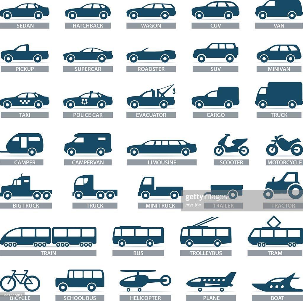 Transport icons - illustration