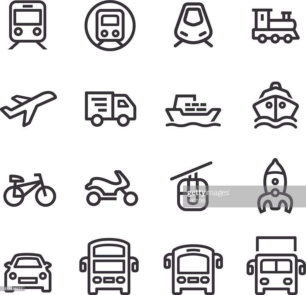 Transport Icons - Line Series