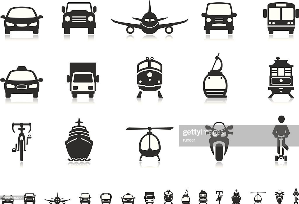 Transport icons | Pictoria series