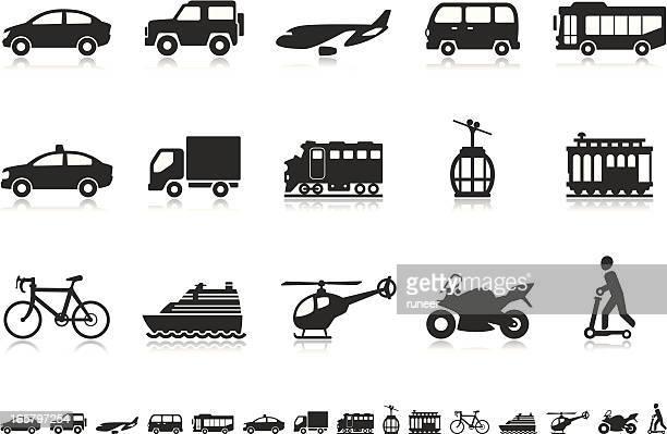 transport icons | pictoria series - suv stock illustrations, clip art, cartoons, & icons