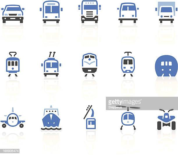 transport icons - rail freight stock illustrations, clip art, cartoons, & icons