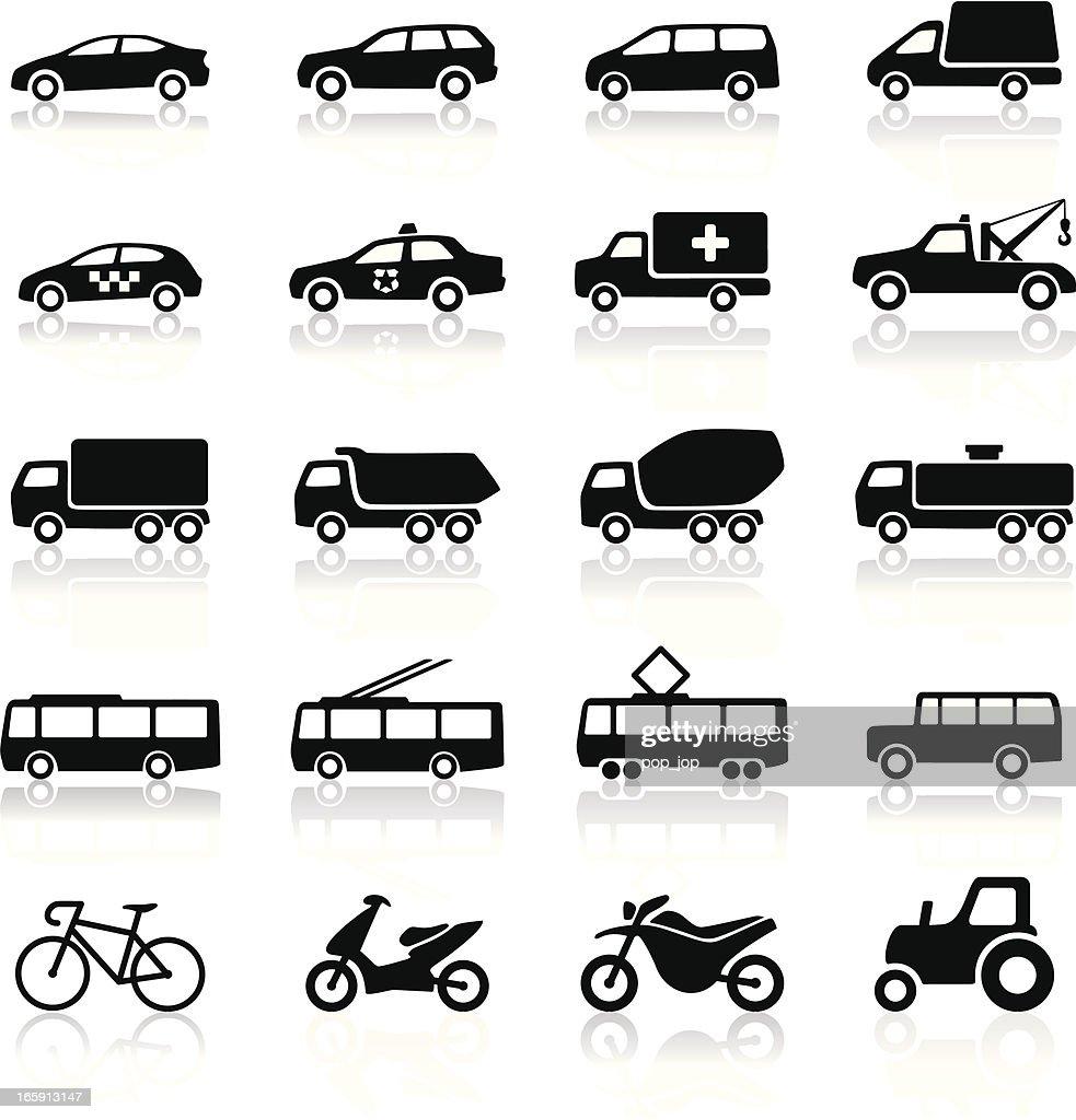 Transport icons : stock illustration