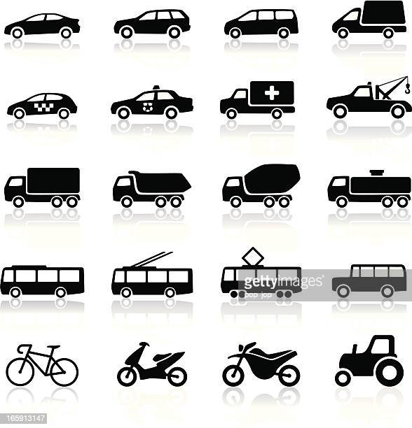 transport icons - domestic car stock illustrations, clip art, cartoons, & icons