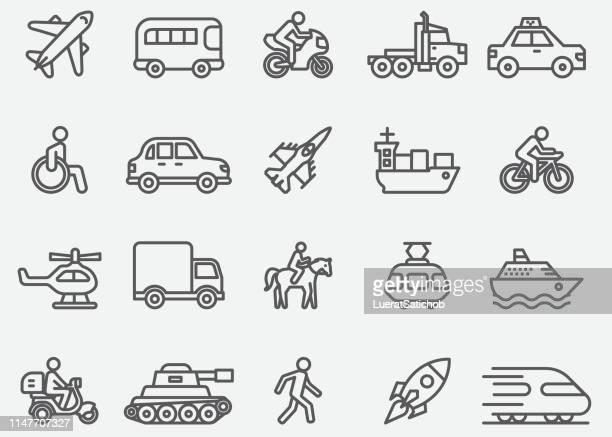 transport line icons - tank stock illustrations, clip art, cartoons, & icons