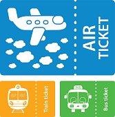 Transport tickets. Air, train, bus.