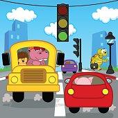 transport traffic in city