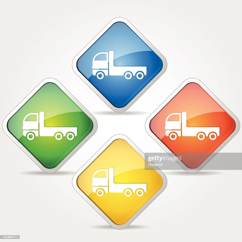 Transport Vehicle Colorful Vector Icon Design