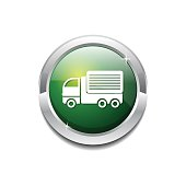 Transport Vehicle Green Vector Icon Button