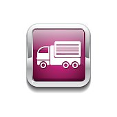Transport Vehicle Pink Vector Icon Button