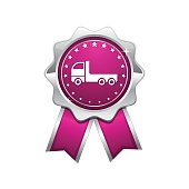 Transport Vehicle Pink Vector Icon Design