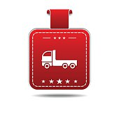 Transport Vehicle Red Vector Icon Design