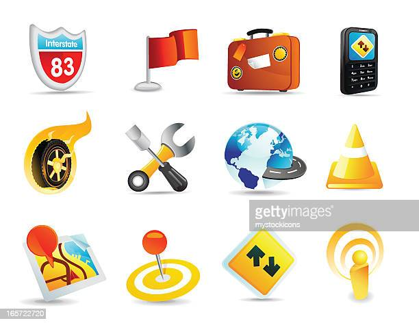 Transportation and GPS icons