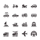 transportation and vehicles icon set 3, vector eps 10