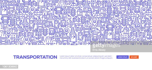 transportation banner - train vehicle stock illustrations