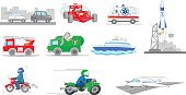 Transportation collection set vector